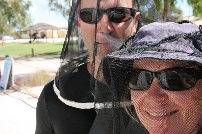 Westaustralien Roadtrip Perth Exmouth Fliegennetze