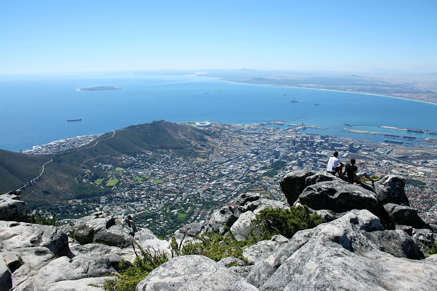 Kapstadt Highlights Tafelberg Blick Downtown